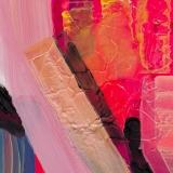 Shrill, 2016, acrylic on hot pink tinted vinyl