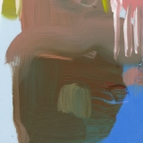 Untitled, 2014, acrylic on blue foam on wood, 14x14